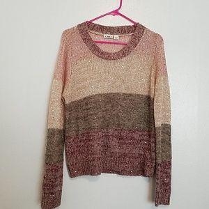 Cato sparkle sequins colorblock sweater